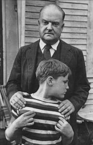 Reuel and Edmund Wilson at the Wellfleet house, 1949.