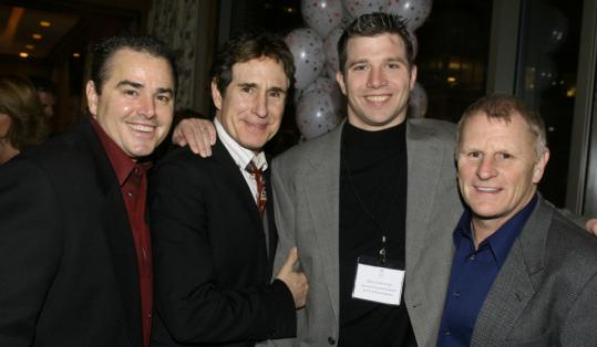 From left: Christopher Knight, John Shea, Dan Cummings, Gordon Clapp.