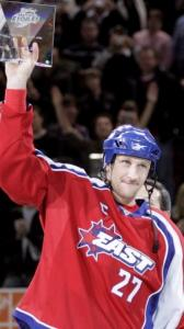 Hometown hero Alex Kovalev picked up MVP honors at the All-Star Game in Montreal.
