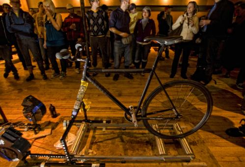 Organizers encouraged people to bring their own bikes and compete head-to-head.. More info on Middlesex Lounge SUBMIT Your nightlife photos! TALK What scene should we visit next?