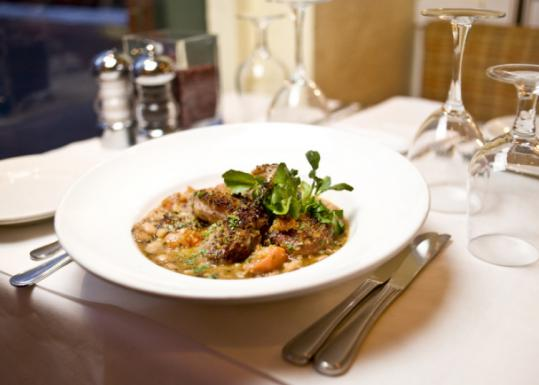 Chef Gordon Hamersley offers rustic cassoulet (above) at Hamersley's Bistro.
