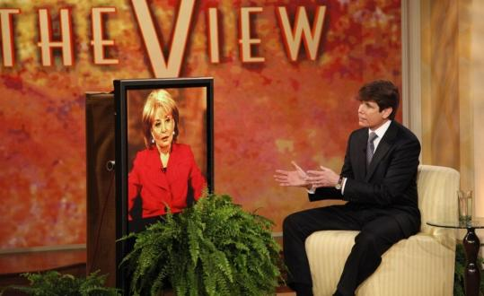 Rod Blagojevich spoke during an interview with Barbara Walters yesterday on ''The View,'' as the Illinois Senate opened its impeachment trial with a vacant chair reserved for the governor.