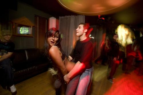 Is that your real name? Rachael Pine of Fall River danced with Jarrod 'Rockstah' Drugge of Stowe. 'This place is like the Cheers of our generation,' Drugge said. More info on RISE SUBMIT Your nightlife photos! TALK What scene should we visit next?