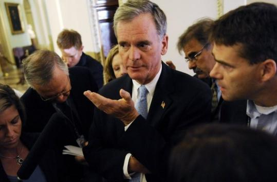 Senator Judd Gregg issued a statement yesterday saying that he is being considered for secretary of commerce.