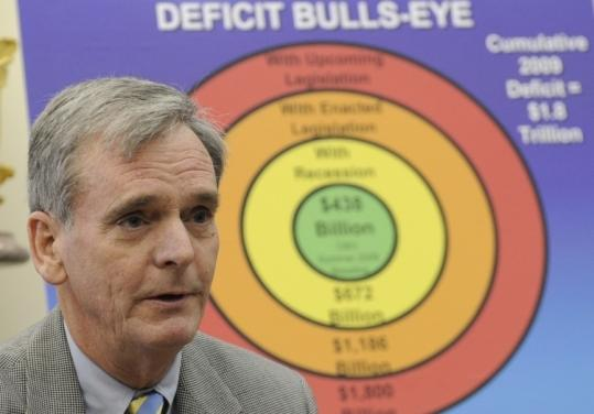 While Judd Gregg, shown in January, is conservative on many issues, he worked closely with Obama on economic matters.