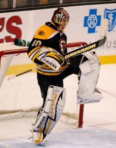 Tuukka Rask deserves his jump for joy with the completion of his first NHL shutout.