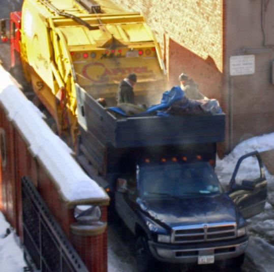 Someone in the Back Bay caught this alleged dumping on a camera phone and sent them to the mayor's complaint hot line.