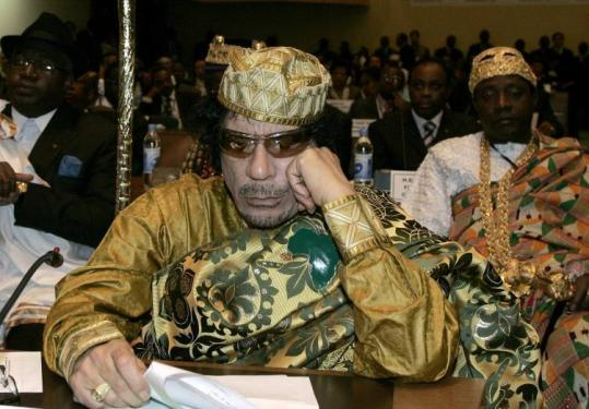 Libyan leader Moammar Khadafy was elected during the opening session of the 12th African Union Summit.