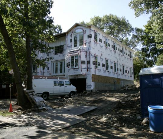 A Crown Ridge Road project was cited during the fall 2007 debate over rules to limit oversized homes in Wellesley.
