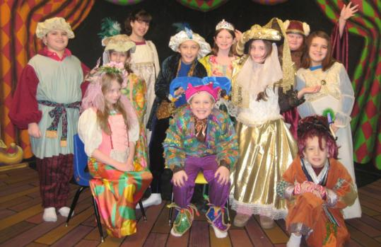 The young cast of ''The Curse of Rumpelstiltskin'' (from left): Matthew Campos, Sabrina McClain, Olivia Ciano, Michelle Kuperschmidt, Charles Garvey, Spencer Edwards, Ali Jordahl, Olivia Graceffa, Jessica Garvey, Jessica Winn-Stanley, and Jeremy Francouer. The show is this weekend.