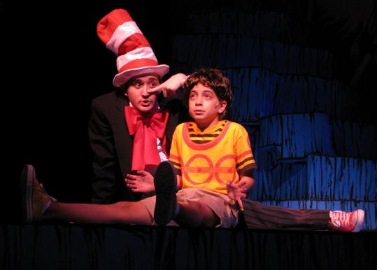 Andrew Barbato is the Cat in the Hat and Sirena Abalian is JoJo in Wheelock Family Theatre's ''Seussical.''