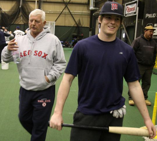 Carl and Mike Yastrzemski were all business in North Andover.