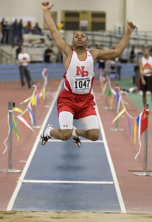 New Bedford junior John Williams won the long jump.