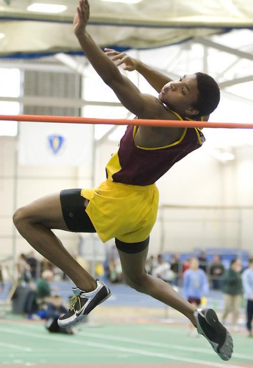 BC High's Corey Thomas won the high jump and 55-meter hurdles.