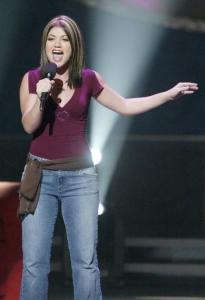 Kelly Clarkson performing on''American Idol'' in 2002.