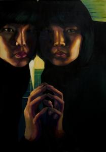 ''Self Portrait'' by Jerry Suh, 18, of Belmont.