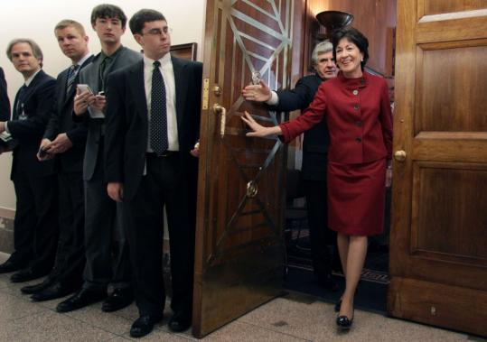 Senator Susan Collins, a Maine Republican, and Senator Ben Nelson, a Nebraska Democrat, are among a number of moderate senators working in consultation with the White House as the stimulus debate continues.
