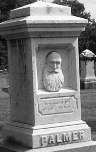 The Leominster grave of Joseph Palmer, a Massachusetts rebel persecuted for wearing a beard.