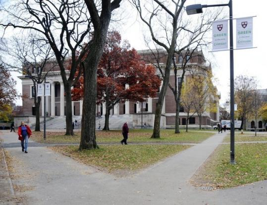 Harvard Yard is the quintessential Harvard location. A statue of John Harvard is located in the yard.