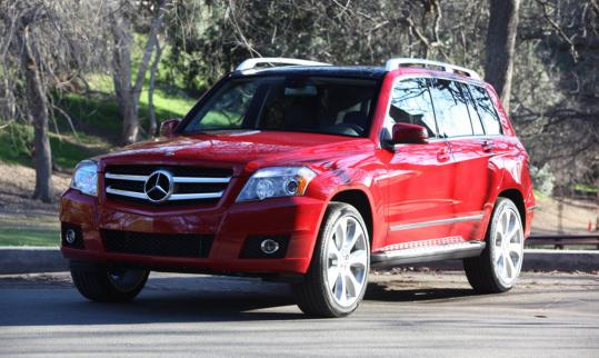 The Bright Red Glk 350 Test Vehicle Had Nearly Every Option Mercedes Benz Offers