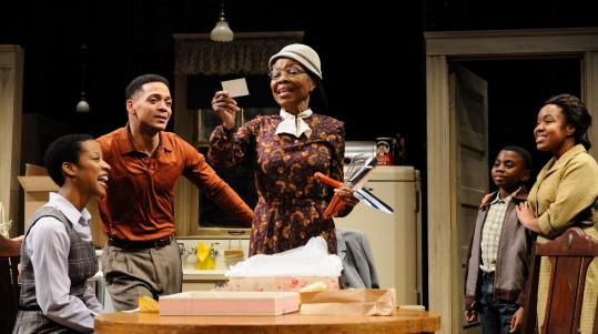 From left: Angela K. Thomas, Joe Wilson Jr., Barbara Meek, Nigel Richards, and Lynnette R. Freeman in Trinity Repertory Company's ''A Raisin in the Sun.''