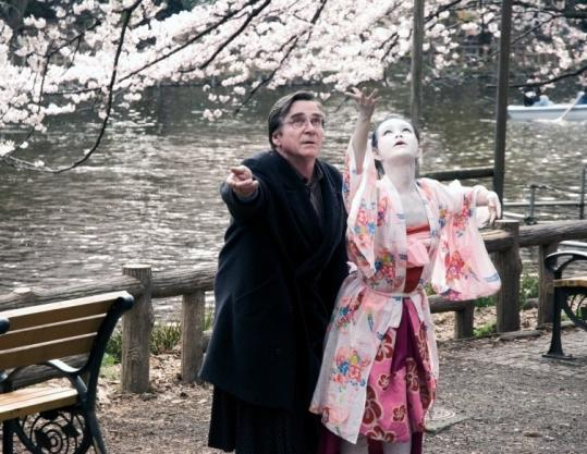 Elmar Wepper (left) and Aya Irizuki in ''Cherry Blossoms,'' set in Germany and Japan.