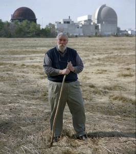 Guy Chichester visited the south marsh in front of New Hampshire's Seabrook nuclear power plant in 1997.