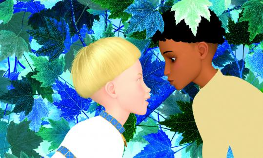 A scene from the colorful animated film ''Azur and Asmar,'' written and directed by Michel Ocelot.