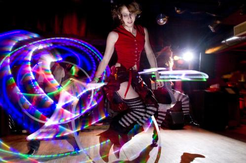 'Lolli Hoops' of the Boston Hoop Troop joined the performance. More info on the Milky Way SUBMIT Your nightlife photos! TALK What scene should we visit next?