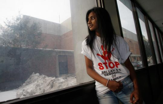 Winchester High School student Priya Suntharalingam, whose parents are from Sri Lanka, has gone without food for 11 days.