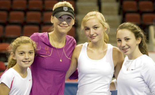 From left: Madelon Palandjian, Anna Kournikova, Margot Palandjian, and Katie Schlager.
