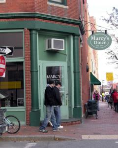 Marcy's serves hearty diner meals at reasonable prices.