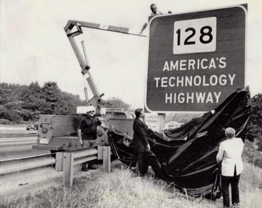 The consensus among a group trying to rebrand the state's technology image was that the Route 128 moniker has grown stale.