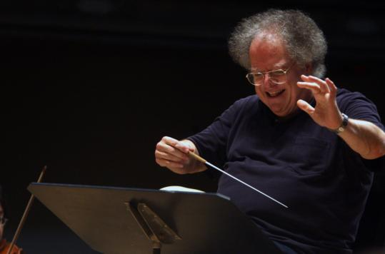 James Levine, rehearsing a Mozart symphony last week with the BSO, has renovated the ensemble's sound and broadened its repertoire, making it very much his own orchestra.