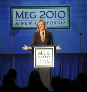 A victory by Meg Whitman in the race for California governor could deliver Mitt Romney a foothold in a Democratic state.