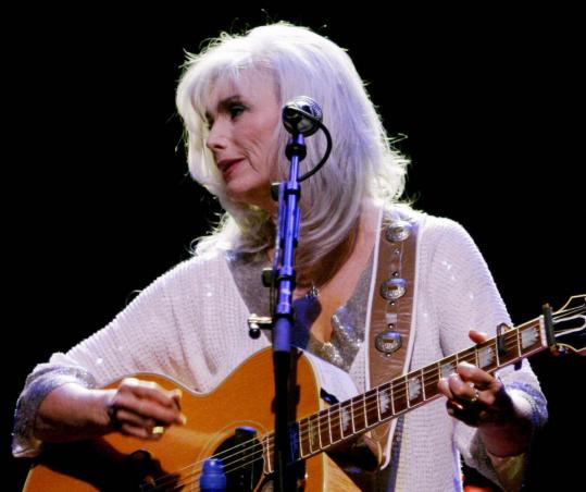 Emmylou Harris (seen here last year in Amsterdam) shared the stage at the Orpheum Sunday with her touring partners Patty Griffin and Shawn Colvin.
