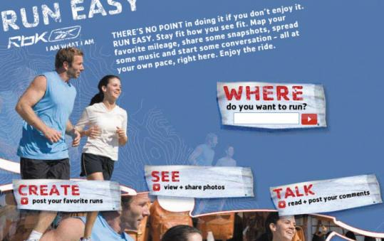 Reebok's Run Easy campaign started with TV ads, but has since turned into an online community of people interested in running.