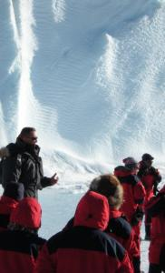 Ken Pedersen, expedition leader at the Norwegian Troll Research Station in Antarctica, briefed representatives from more than a dozen nations yesterday.