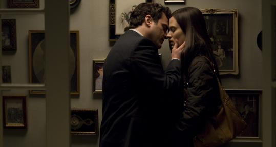 MAGNOLIA PICTURESJoaquin Phoenix is Leonard and Vinessa Shaw is Sandra, the girl who wants to save him, in ''Two Lovers.''