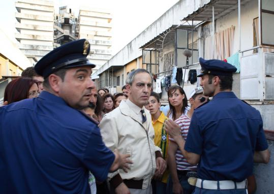 Gianfelice Imparato (center) portrays Don Ciro in ''Gomorrah,'' a realist thriller based on a nonfiction book about an Italian crime syndicate.