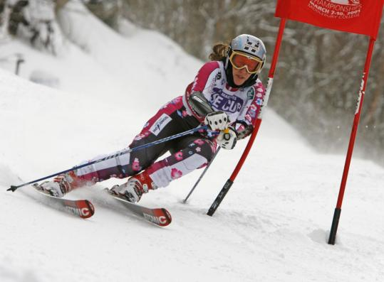 Carolyn Beckedorff started skiing at age 3, but continues to refine her skills on the slopes.