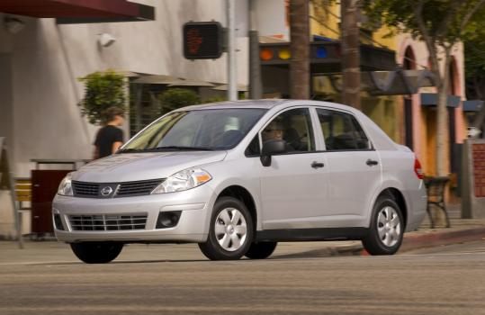 The 2009 Nissan Versa 1.6 is a no-frills car for this age of austerity. It won't turn heads, but it's a surprisingly spirited ride.