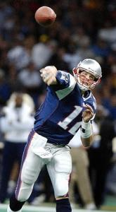 Tom Brady led the Patriots to victory in the 2002 Super Bowl.