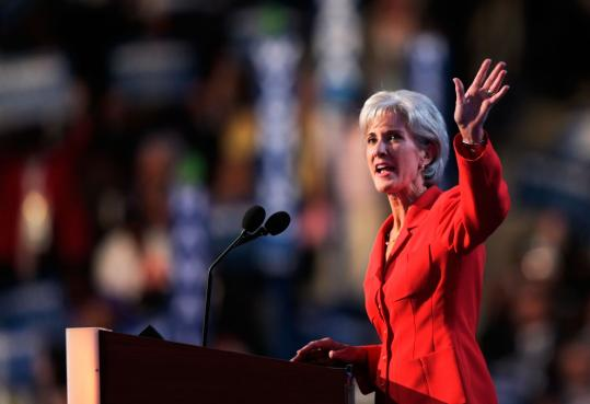 President Obama hailed Kansas Governor Kathleen Sebelius, shown in August in Denver, an accomplished insurance regulator.