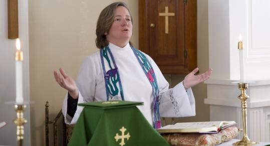 The Rev. Katherine Hancock Ragsdale at St. David Episcopal Church in Pepperell.