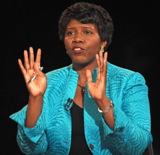 Gwen Ifill pictured at the vice presidential debate in October has a