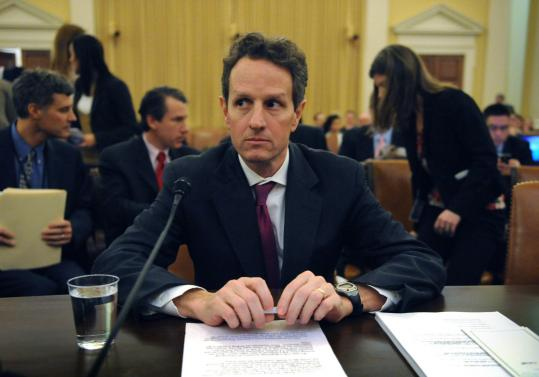 Treasury Secretary Timothy Geithner testified yesterday before the House Ways and Means Committee on Capitol Hill.