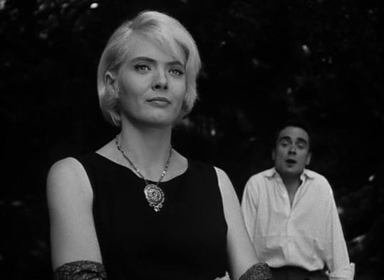 Corinne Marchand and Antoine Bourseiller in ''Cléo from 5 to 7,'' directed by Agnès Varda.