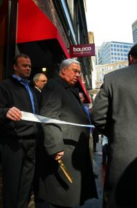 Mayor Thomas M. Menino took part in a ribbon-cutting ceremony for a new burrito shop as part of a walking tour in Downtown Crossing yesterday.