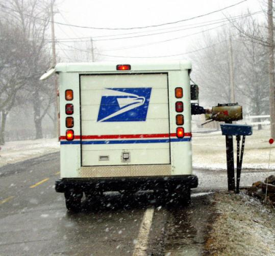 Monday's snow closed schools and businesses, but mail still arrived.